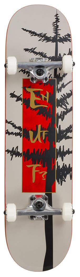 ENUFF SKATEBOARDS ENUFF EVERGREEN TREE COMPLETE SKATEBOARD, GRIJS/ROOD