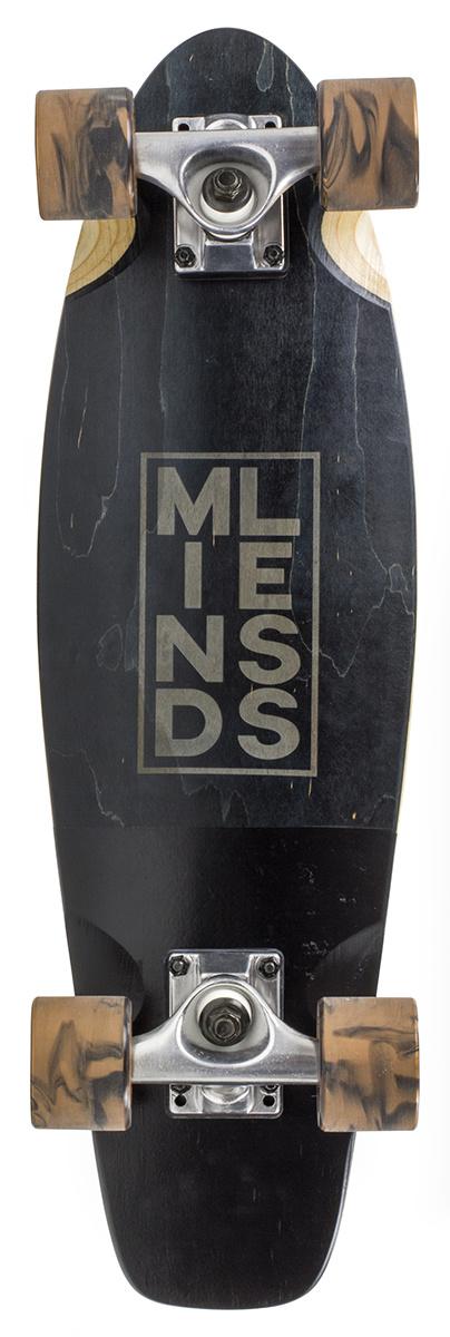 MINDLESS LONGBOARD MINDLESS LONGBOARD, STAINED DAILY III, ZWART
