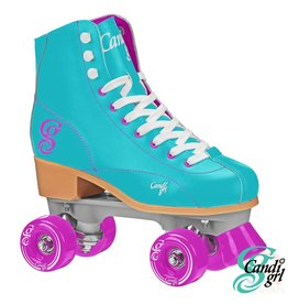 CANDI GRL. CANDI GRL ROLLER SKATES, MINT/PURPLE