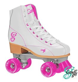 CANDI GRL. CANDI GRL ROLLER SKATES, WEISS/ROSA