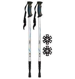 ABBEY WANDERSTOCK VERSTELLBAR ANTI-SHOCK SET /SILBER/BLAU