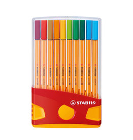 STABILO FINELINERS STABILO POINT 88 COLORPARADE: 20 STUKS