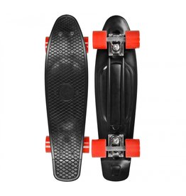 CHOKE SKATEBOARDS CHOKE JUICY SUSI CRUISER, ZWART/ROOD