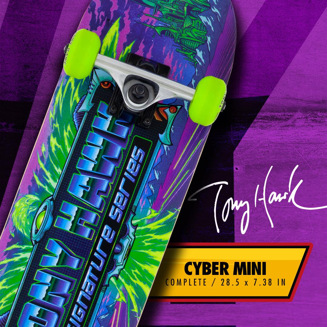 TONY HAWK TONY HAWK SS 360 SERIES SKATEBOARD, CYBER MINI