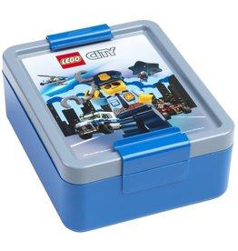 LEGO LUNCHBOX LEGO CITY, BLAUW/GRIJS