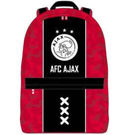 AFC AJAX RUGZAK AJAX KLEIN ROOD MET ZWARTE BAAN: 28X21X11 CM