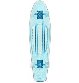 CHOKE SKATEBOARDS CHOKE BIG JIM CRUISER, CLEAR BLUE