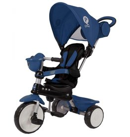 Q-PLAY Q-PLAY COMFORT DRIEWIELER 4 IN 1, DONKERBLAUW
