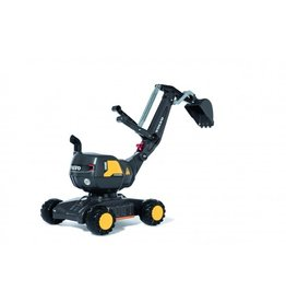 ROLLY TOYS ROLLY TOYS VOLVO GRAAFMACHINE, ZWART