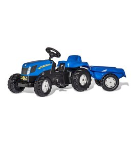 ROLLY TOYS ROLLY TOYS NEW HOLLAND TRACTOR MET AANHANGER, BLAUW