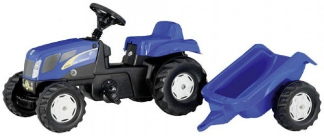 ROLLY TOYS ROLLY TOYS NEW HOLLAND TRACTOR MIT TRAILER, BLAU
