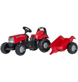 ROLLY TOYS ROLLY TOYS CASE TRAKTOR MIT TRAILER, ROT