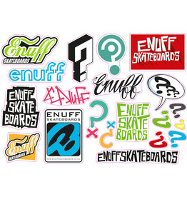 ENUFF SKATEBOARDS ENUFF STICKER SHEET, 20 STICKERS