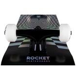 ROCKET SKATEBOARD ROCKET COMPLETE SKATEBOARD, PRISM FOIL