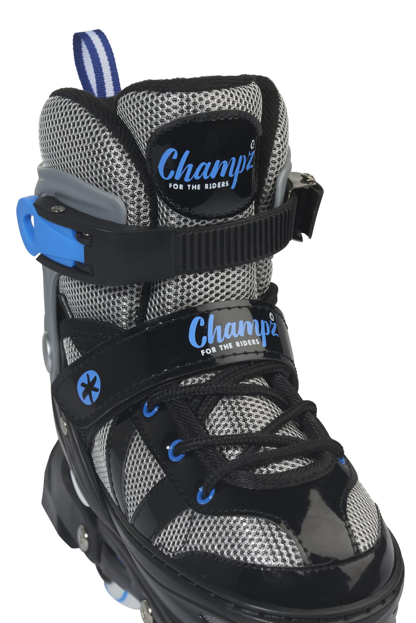 CHAMPZ CHAMPZ INLINE SKATES, BLAUW/ZWART