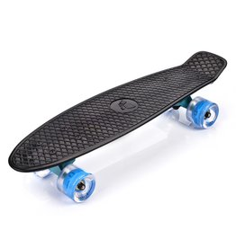 METEOR PENNY BOARD LED WHEELS, BLACK/BLUE