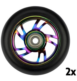 BLACK DRAGON STUNTSTEP WIELEN SET SPOKED ALU NEO CHROME