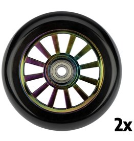 BLACK DRAGON STUNTSTEP WIELEN SET SPOKED PLASTIC NEO CHROME