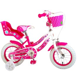 VOLARE VOLARE LOVELY KINDERFIETS 12 INCH, ROZE/WIT