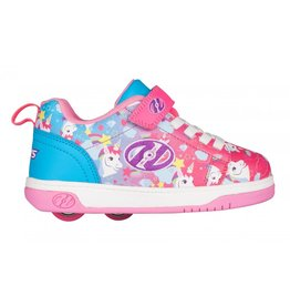 HEELYS HEELYS DUAL UP X2, NYON PINK/CYAN/PURPLE UNICORN