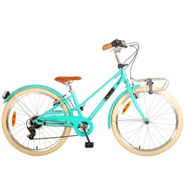VOLARE VOLARE MELODY 24 INCH KINDERFIETS TURQUOISE, 6 VERSNELLINGEN
