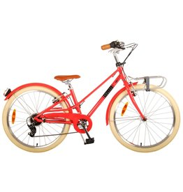 VOLARE VOLARE MELODY 24 INCH KINDERFIETS PASTEL ROOD, 6 VERSNELLINGEN