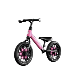 Q-PLAY Q-PLAY SPARK 12 INCH LOOPFIETS MET LED VERLICHTING, ROZE