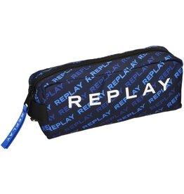 REPLAY ETUI REPLAY BOYS BLUE ALLOVER, 21X6X10 CM