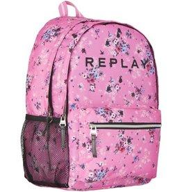 REPLAY RUGZAK REPLAY GIRLS PINK FLOWER ALLOVER, 44X30X17 CM