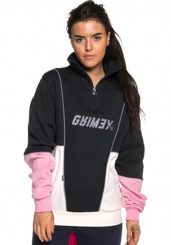 Grimey I Hazy Sun High Neck Sweatshirt I Black