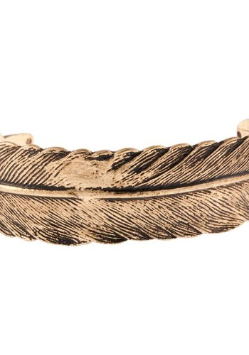 timi of Sweden I Feather cuff bracelet I Gold
