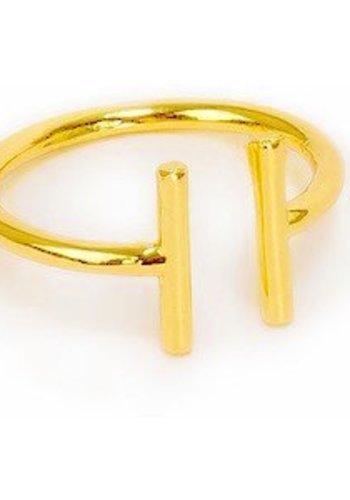 timi of Sweden I 2 bar adjustable ring I Gold