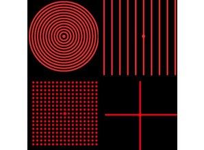 Global Laser 1:10 dot circle for Machine Vision lasers