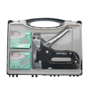 Hofftech zware handtacker in kunststof koffer