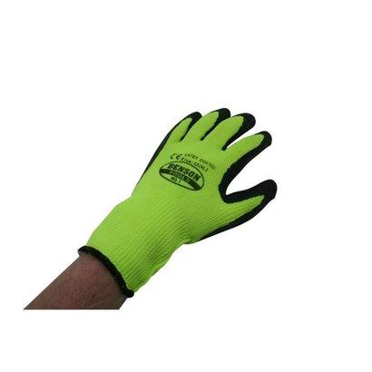 Hofftech werkhandschoenen Latex XL / Maat 10 Grip Gebreide Neon-Geel