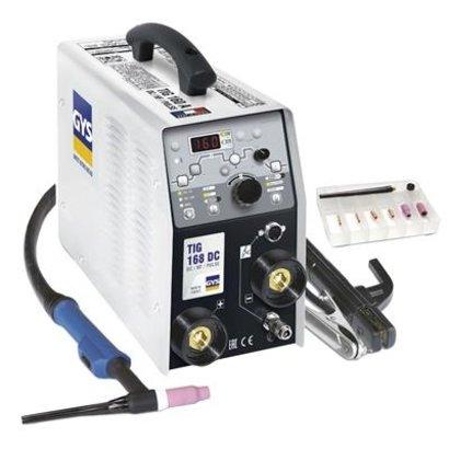 GYS LASINVERTER TIG 168 DC HF, MET ACCESSOIRES