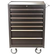 Tool trolley 7 drawers black