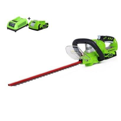 Greenworks 24 Volt Akku-Heckenschere G24HT57K2
