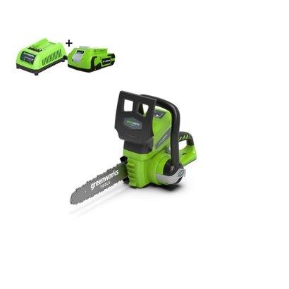 Greenworks 24 Volt Akku-Kettensäge G24CS25K2