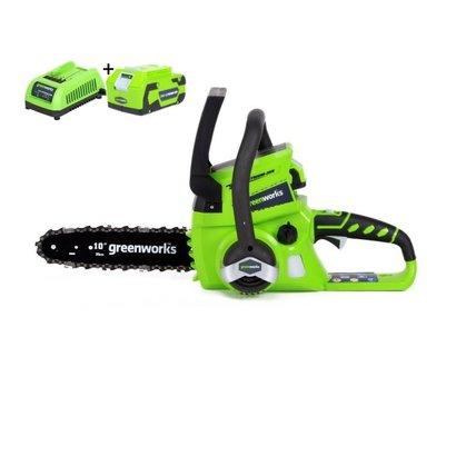 Greenworks 24 Volt Akku-Kettensäge G24CS25K4