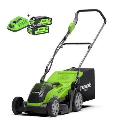 Greenworks 40 Volt Akku-Mäher G40LM35K2X