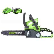 Greenworks 40 Volt Akku-Kettensäge G40CS30K2