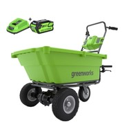 Greenworks 40 Volt Cordless Wheelbarrow G40GCK4