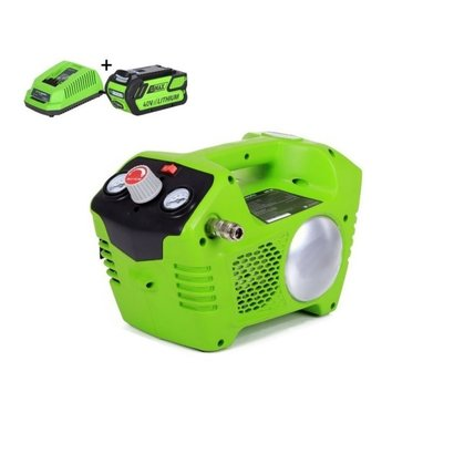 greenworks 40 Volt Accu Compressor G40ACK4