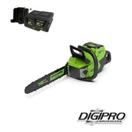 greenworks 60 Volt cordless chainsaw GD60CS40K2X