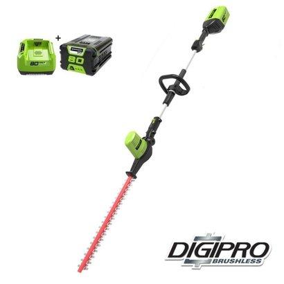 Greenworks 80 Volt Akku-Heckenschere Langstrecken GD80PHTK2