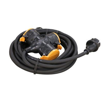 RELECTRIC RELECTRIC PRO VERLENGSNOER 5 MTR 3-VOUDIG 3X1,5MM