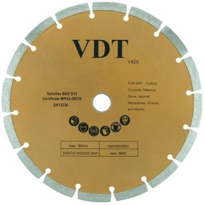 Diamantschijf Diameter: 230 mm Segmen