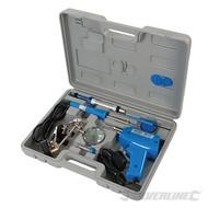 Silverline 9-delige elektrische soldeer set