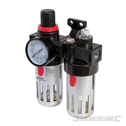 Silverline Luchtfilter drukregelaar en olievernevelaar